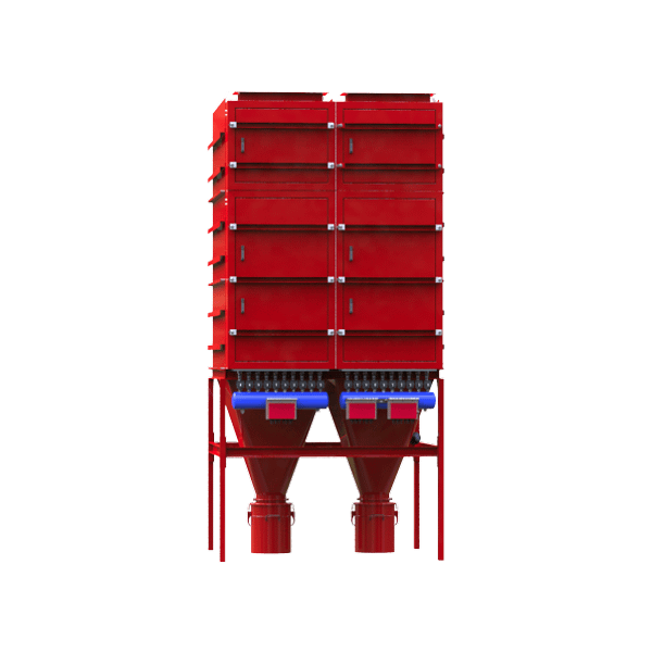 Zakfilter INFA-JET AJN met pneumatische jetpulsreiniging, Industriële ontstoffingssystemen Stofafzuigsystemen - Stofafscheiders